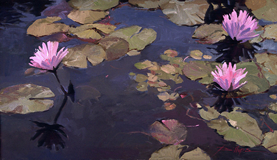 Betty Billups Painting - Lilies II - Water Lilies by Betty Jean Billups