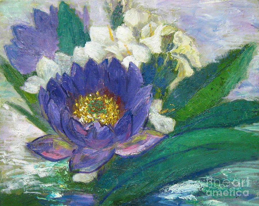 Lilies Painting - Lilies by Meihua Lu