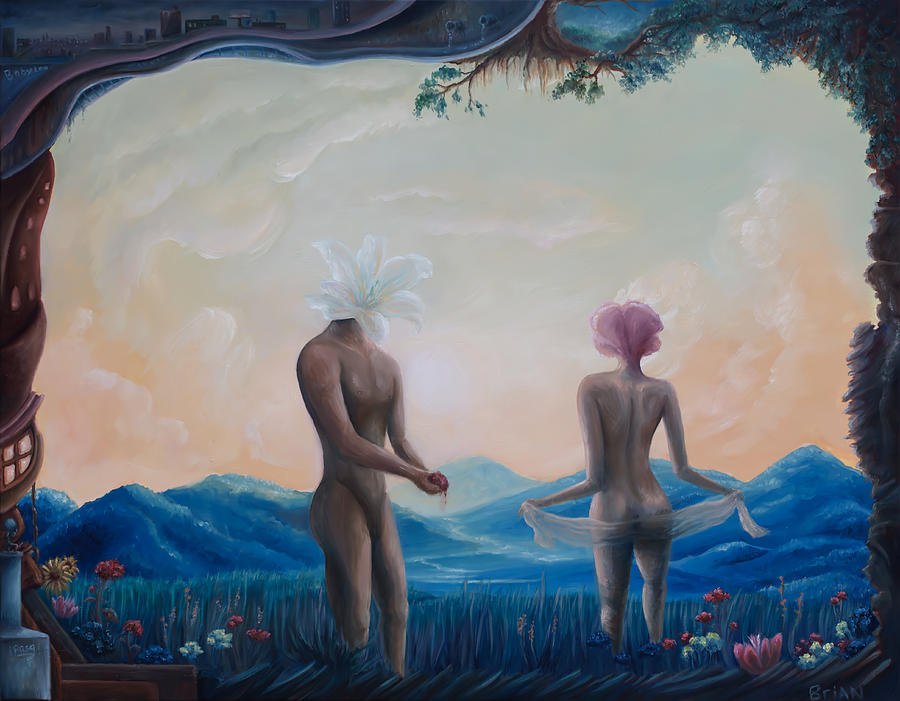 Surreal Painting - Lilies Of The Field by Brian Nunes