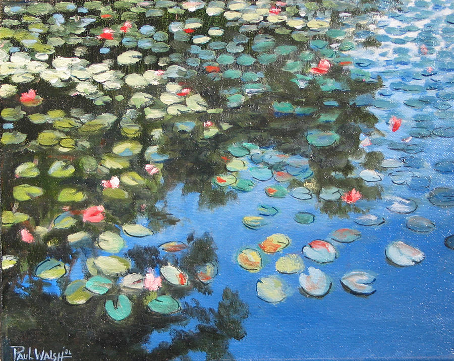 Lillies Painting - Lilies by Paul Walsh