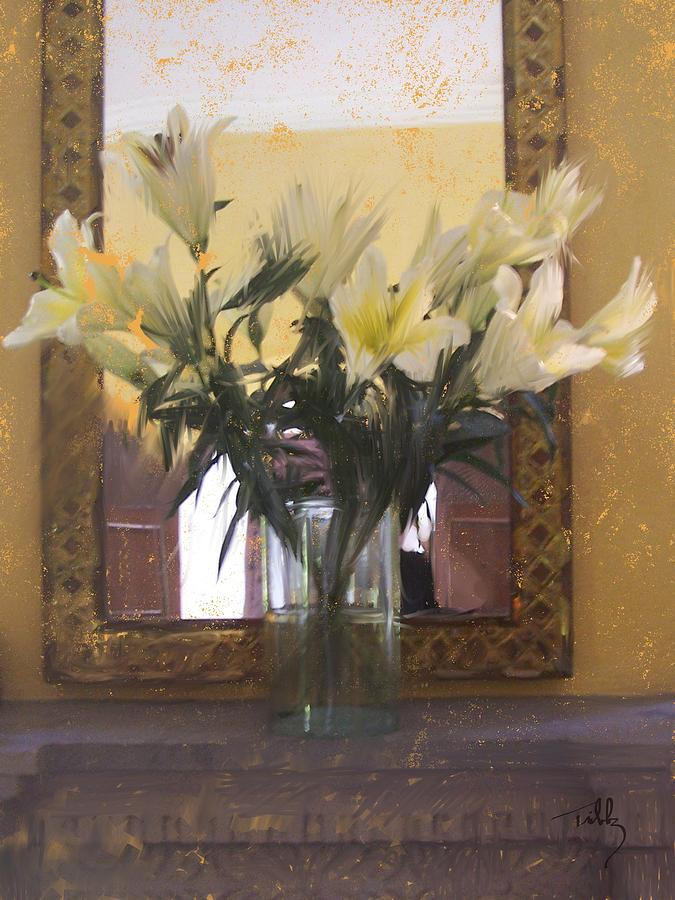 Floral Painting - Lilies by Thomas Tribby