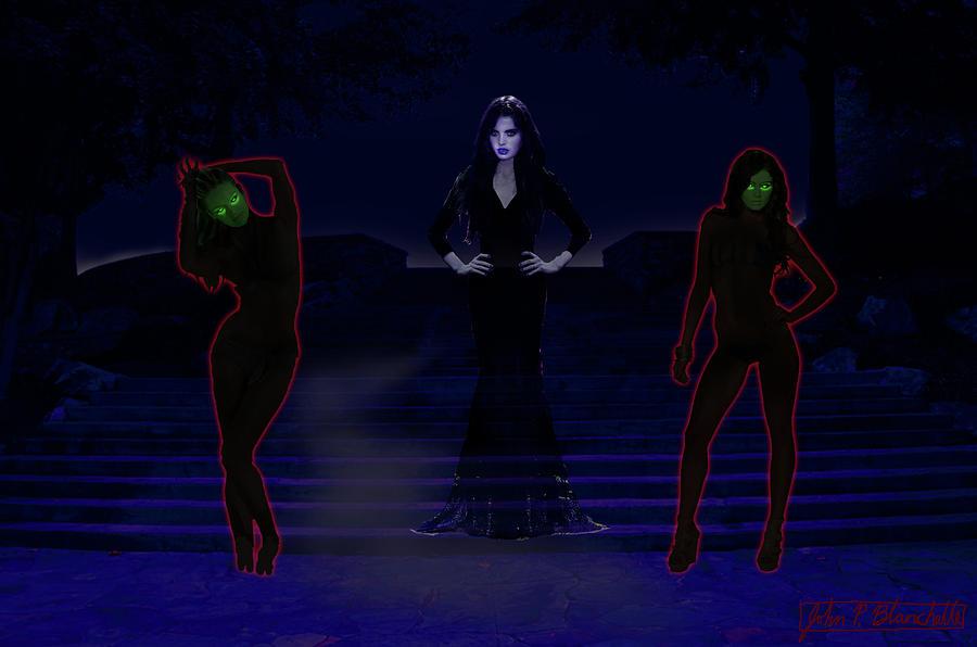 Lilith Digital Art - Lilith, Embraced By Night by John Paul Blanchette