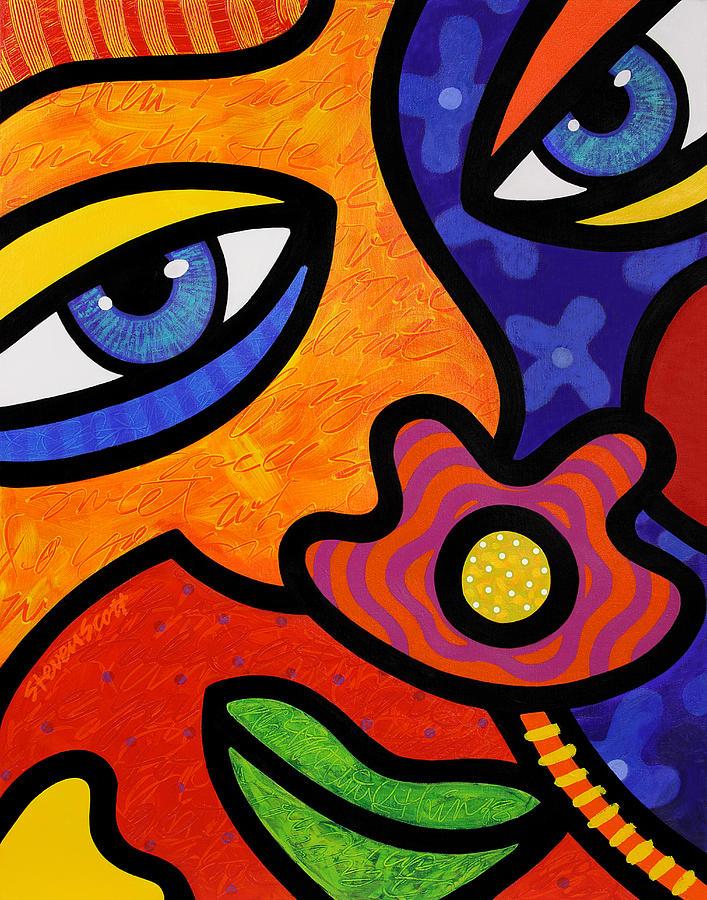 Eyes Painting - Lilli Lilligrin by Steven Scott