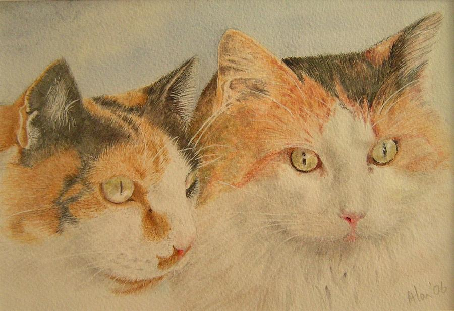 Lilly And Lucy Painting by Alan Pickersgill