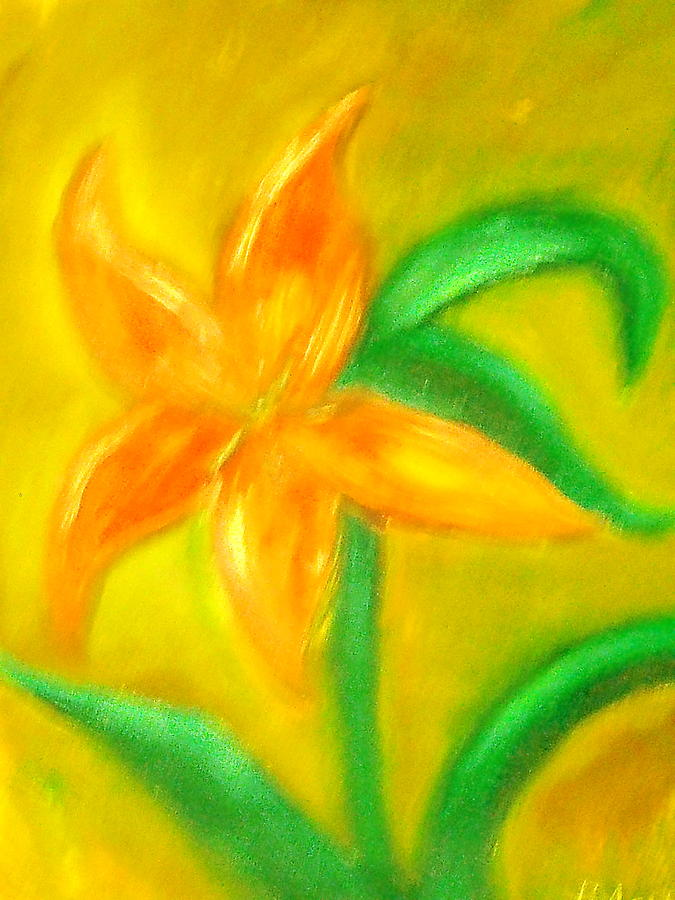 Flower Painting - Lilly by BJ Abrams