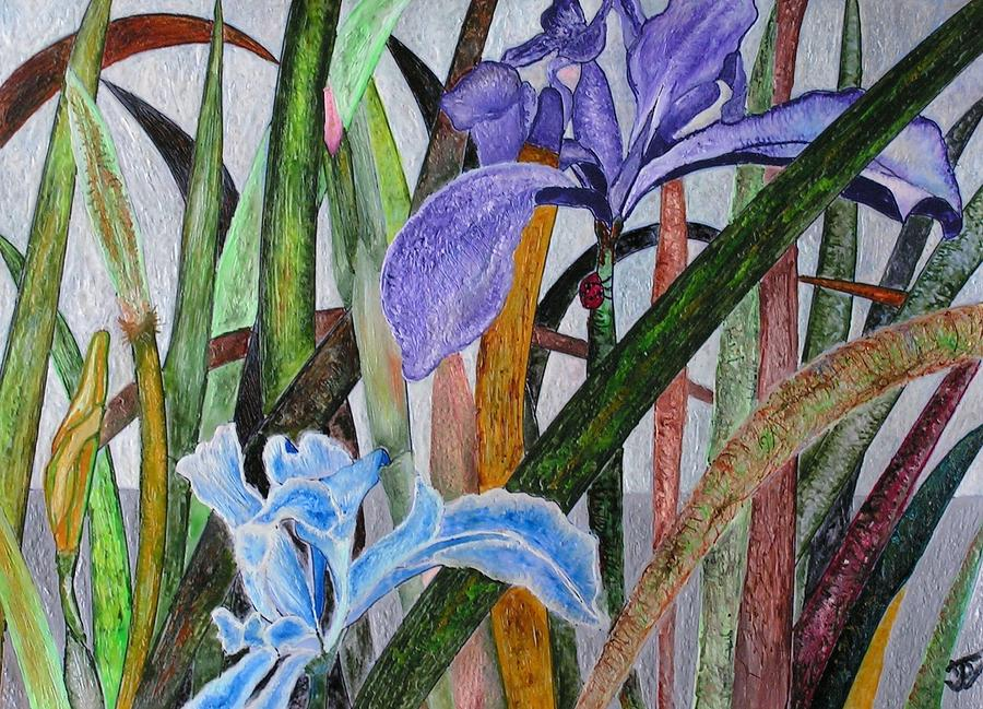 Floral Painting - Lilly by John Vandebrooke