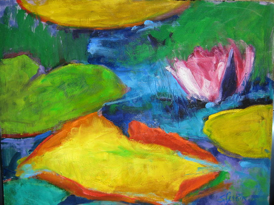 Pond Painting - Lilly Pond by Susan Jenkins