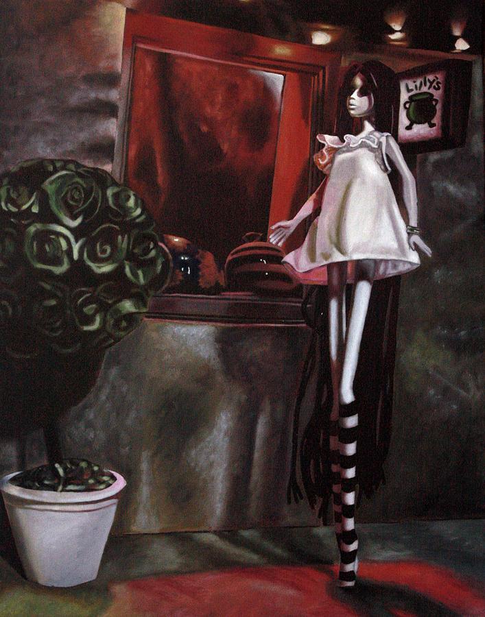 Dark Painting - Lillys by Lori Keilwitz