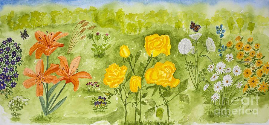 Lils Flower Garden Painting