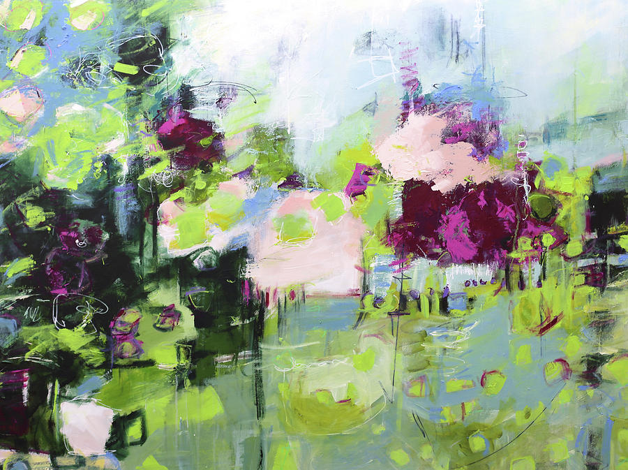 Abstract Painting Painting - Lily by Elizabeth Chapman