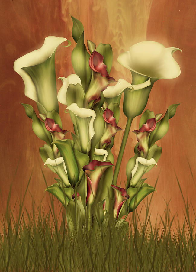 Calla Lilies Digital Art - Lily Fantasy By Day by Georgiana Romanovna