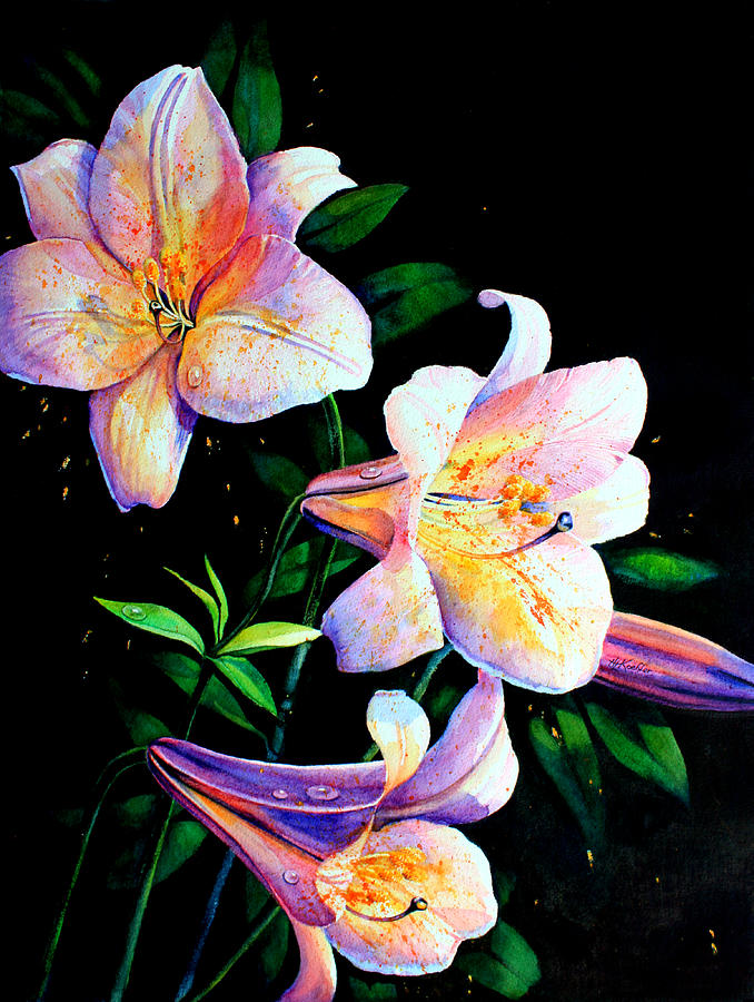 Lilies Painting - Lily Fiesta by Hanne Lore Koehler