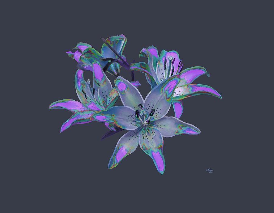 Lily Flowers Blue Purple Painting By Susanna Katherine