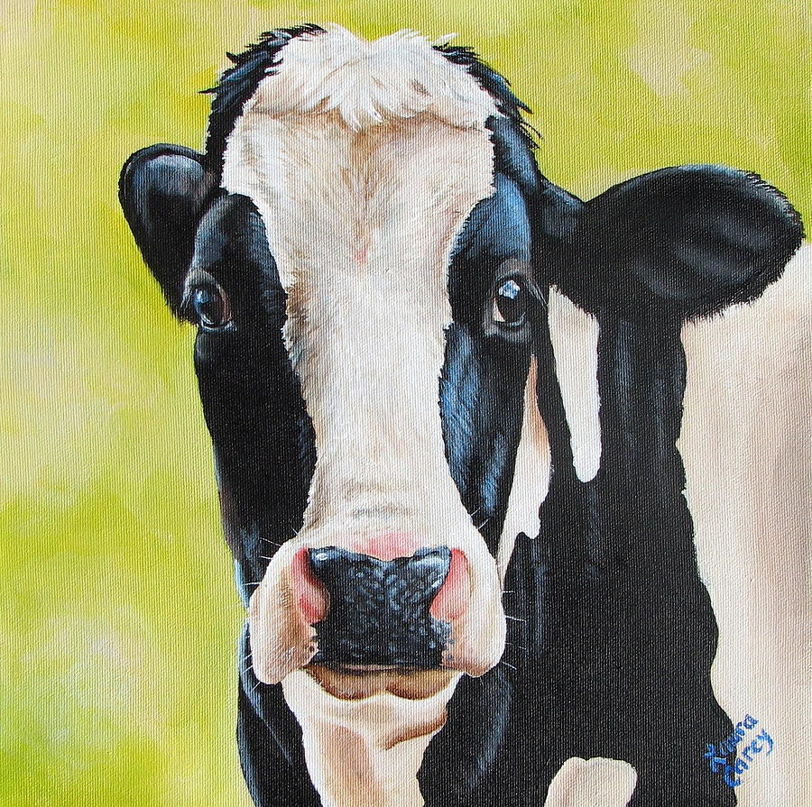 Cow Painting - Lily by Laura Carey