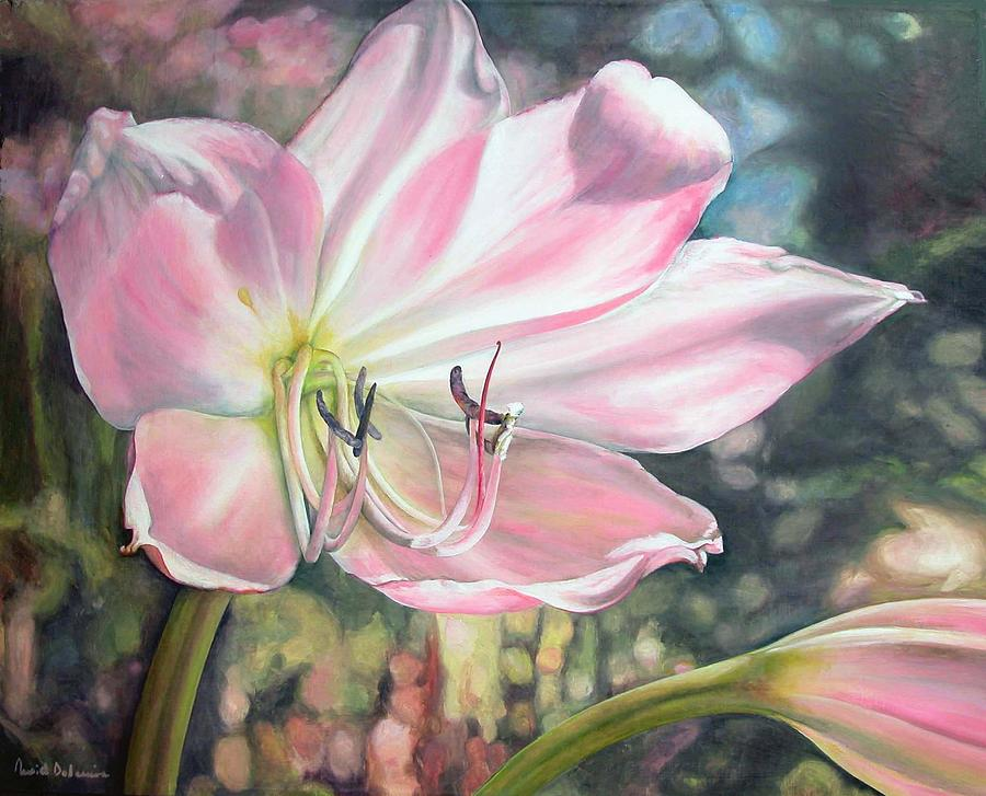 Fleurs Painting - Lily by Muriel Dolemieux