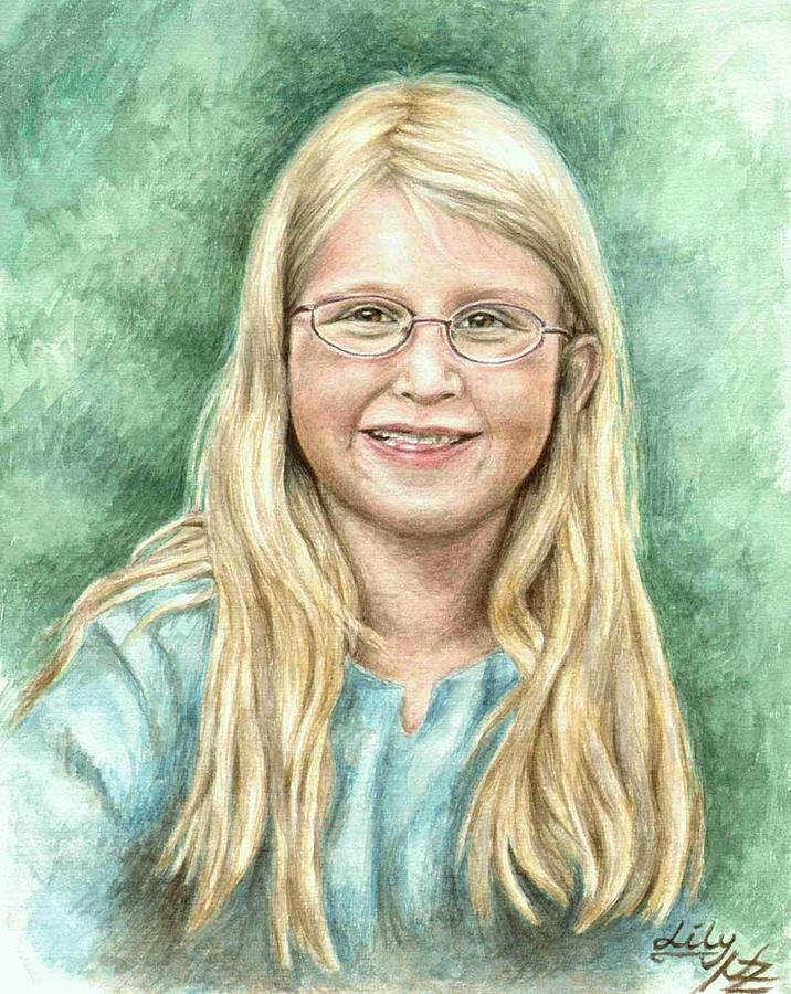 Girl Painting - Lily by Nicole Zeug