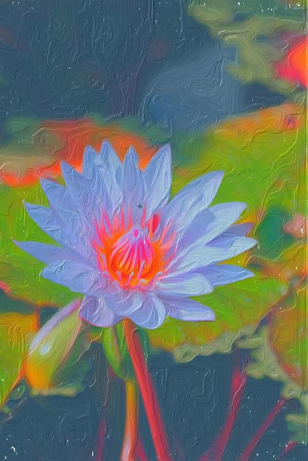 Water Lily Painting - Lily Of The Valley Painting by Don  Wright