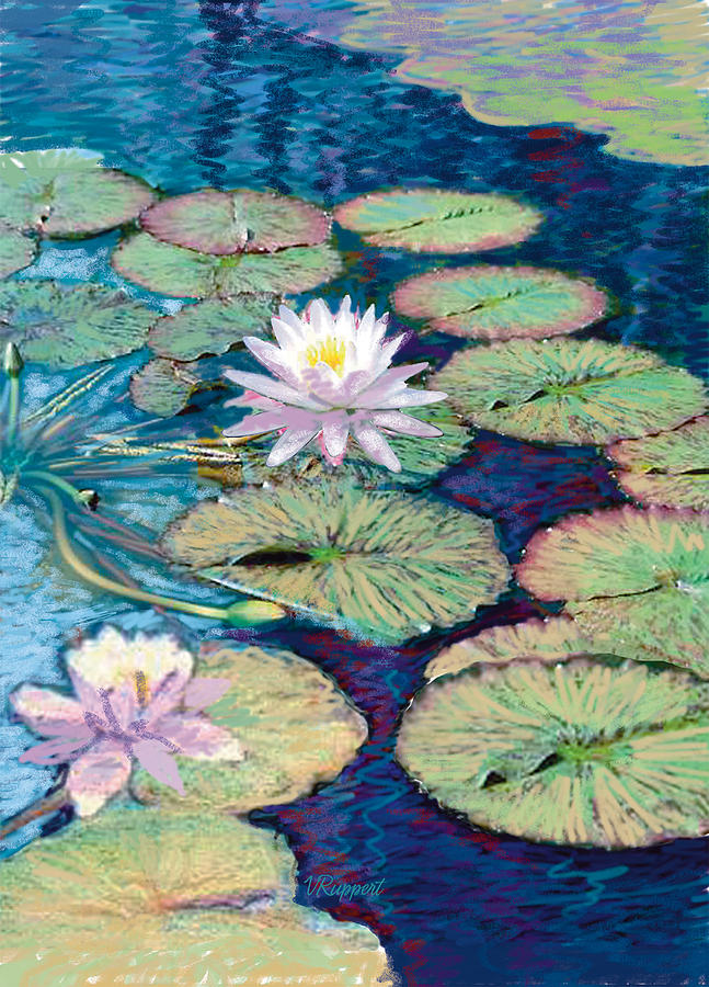 Zen Pastel - Lily Pads by Valer Ian