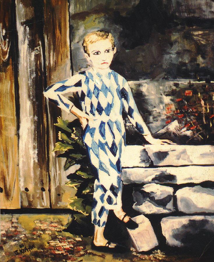 Pierrot Painting - Lily Pierrot by John Keaton