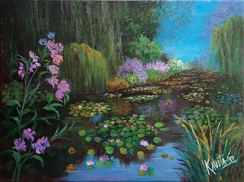 Lily pond - Giverney by Kavita Vardhan