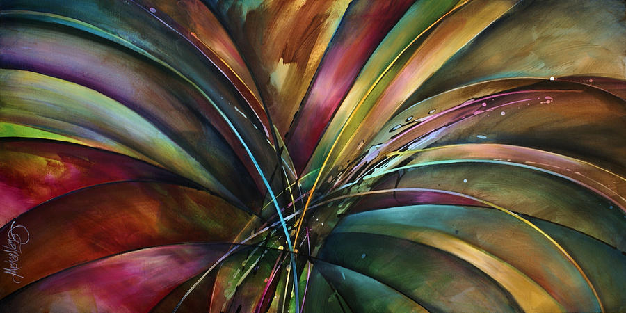 Modern Painting - Lilys Song by Michael Lang