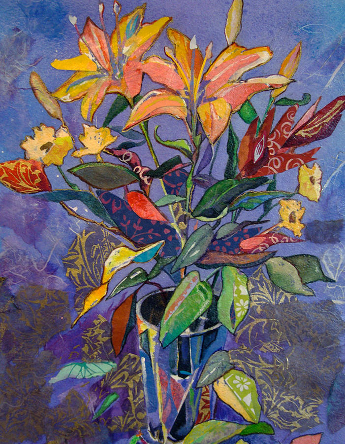Lily Painting - Lilyscape by Marty Husted