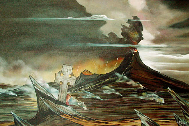 Limbo Painting by Visionary Imagist