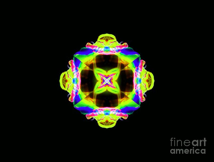 Abstract Digital Art - Lime Juice by Lorles Lifestyles