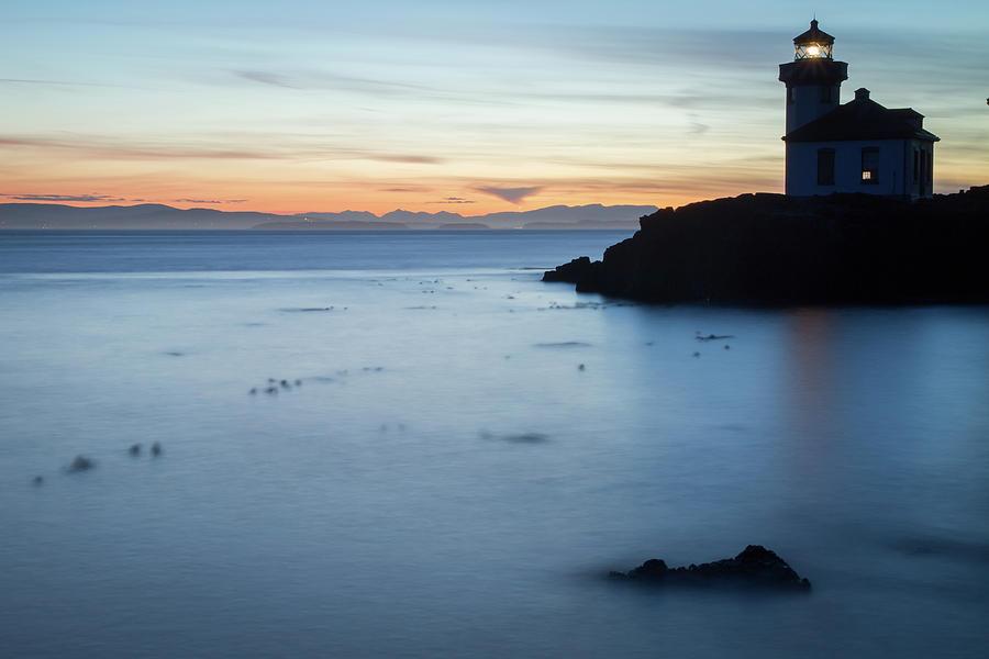 Lime Kiln Lighthouse Photograph - Lime Kiln Light House // San Juan Island by Kirsten Dale