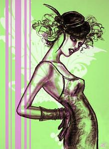 Fashion Illustration Digital Art - Lime Lady by Lara Wolf
