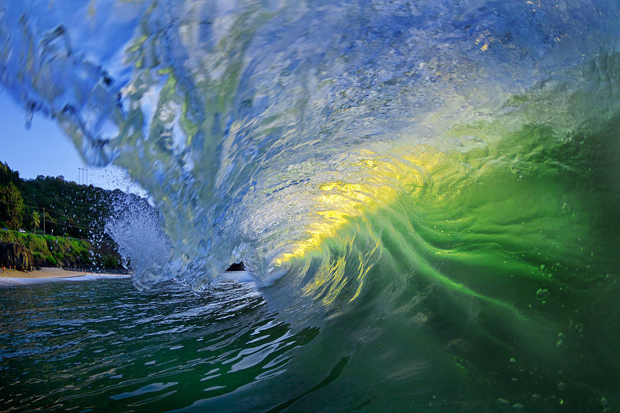 Ocean Wave Photograph - Limelight by Sean Davey