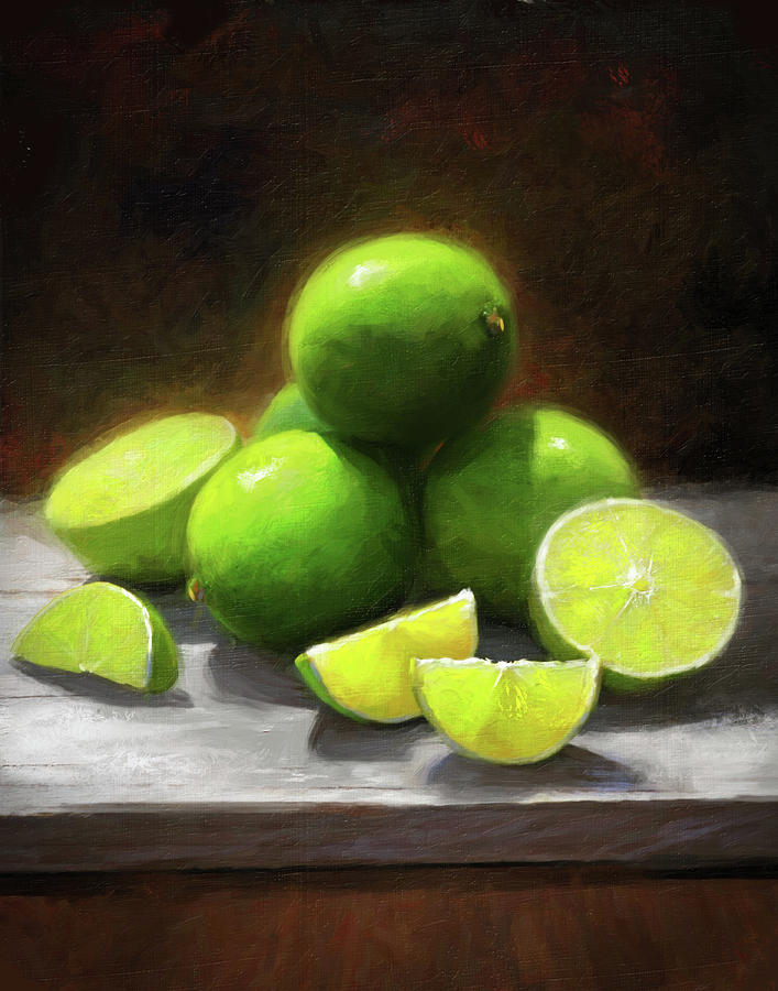 Limes Painting - Limes In Sunlight by Robert Papp
