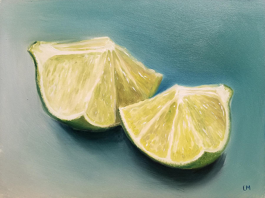 Oil Painting - Limes by Linda Merchant