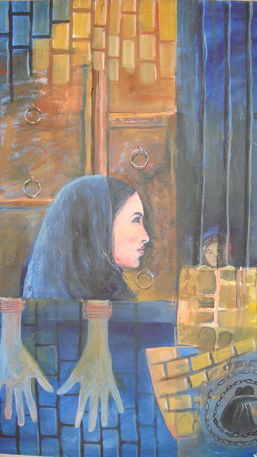 Figurative Painting - Limitation-3 by Shagufta Khanam