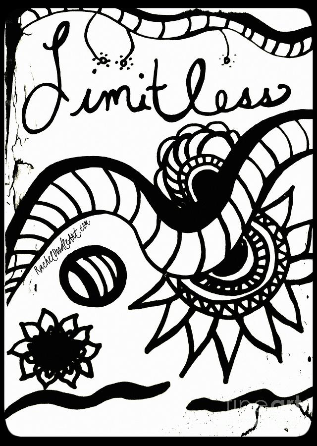 Doodle Drawing - Limitless by Rachel Maynard