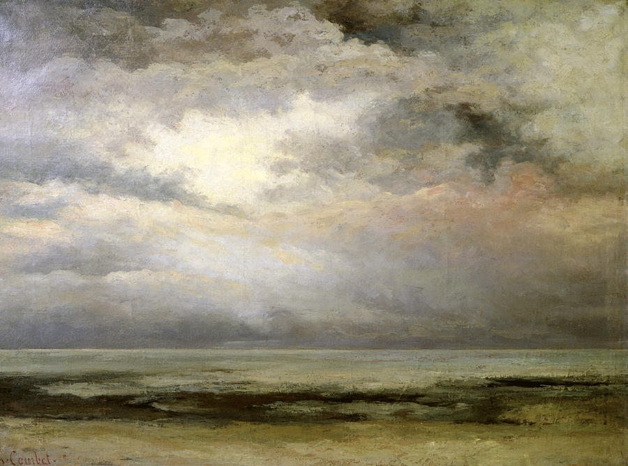 Gustave Courbet Painting - LImmensite by Gustave Courbet