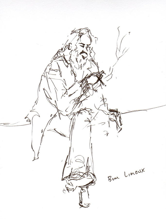 Limoux Bum Drawing by Diane Daigle