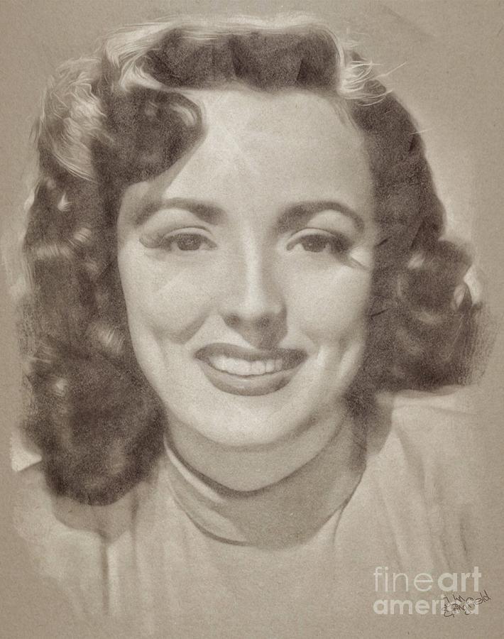 Lina Romay, Vintage Actress Drawing
