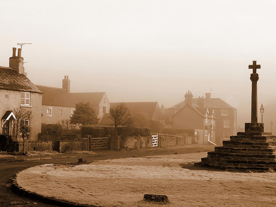 Sepia Photograph - Linby Village by Graham Taylor