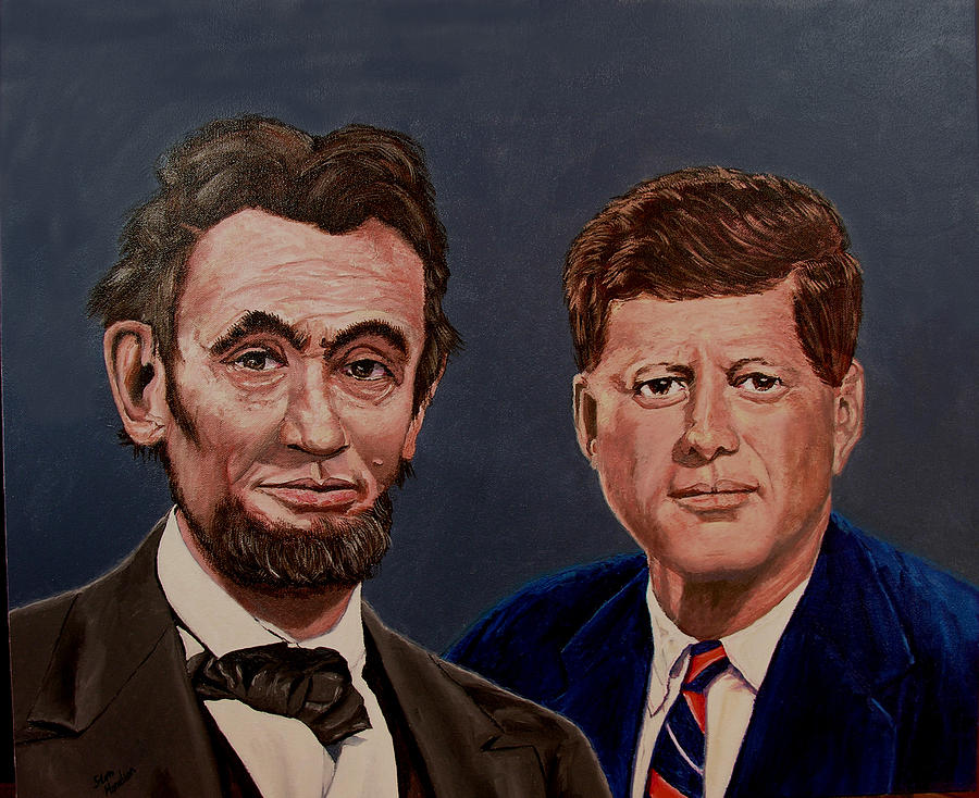 Lincoln Painting - Lincoln And Kennedy by Stan Hamilton