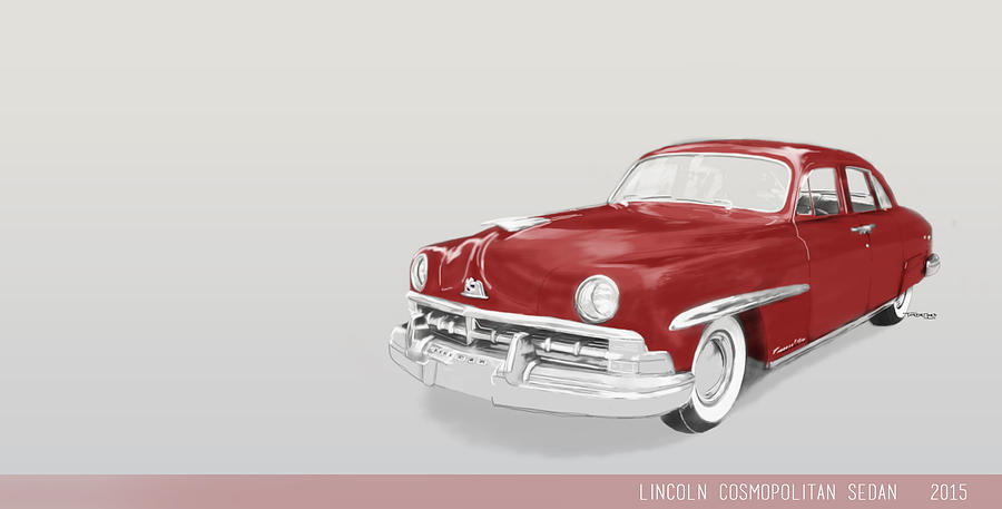 2015 Mixed Media - Lincoln Cosmopolitan Sedan by TortureLord Art