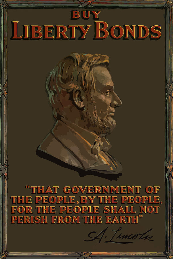 Abe Lincoln Painting - Lincoln Gettysburg Address Quote by War Is Hell Store