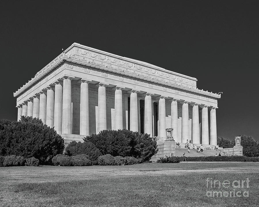 Lincoln Memorial Black and White Washington DC by Kimberly Blom-Roemer