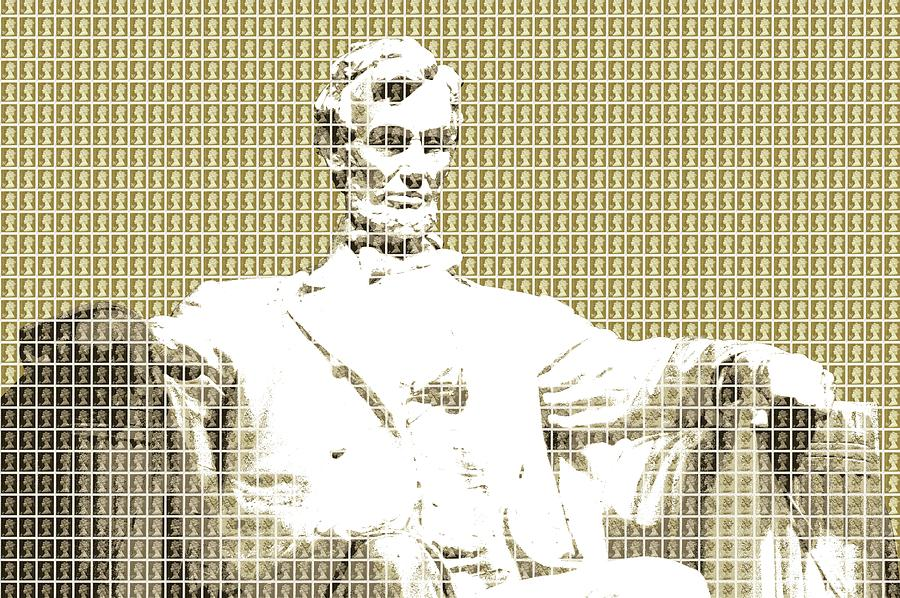 Abraham Lincoln Digital Art - Lincoln Memorial - Gold by Gary Hogben