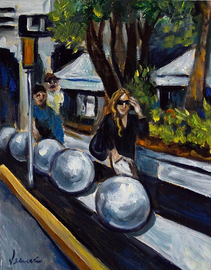 Shopping Painting - Lincoln Road by Valerie Vescovi