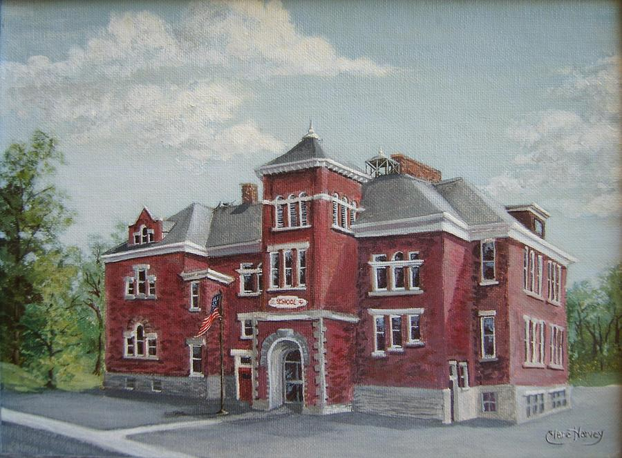 Marseilles Painting - Lincoln School  Marseilles Il by Clare Harvey