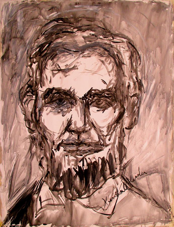 Lincoln Painting - Lincoln Stage One by Kendall Kessler