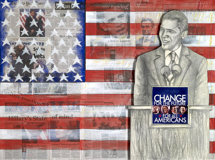 Barack Obama Mixed Media - Lincoln by Yvonne Dagger