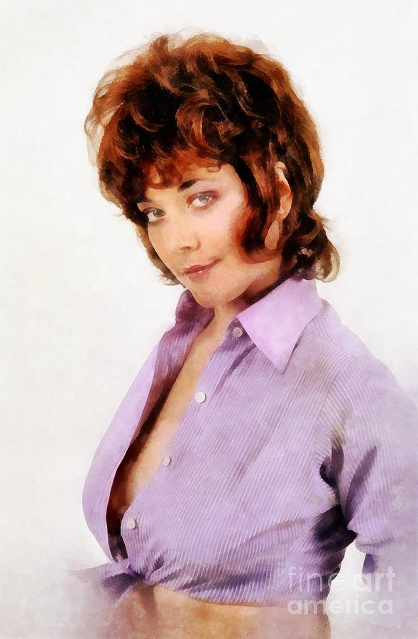 Linda thorson vintage actress by john springfield painting by hollywood painting linda thorson vintage actress by john springfield by john springfield thecheapjerseys Images