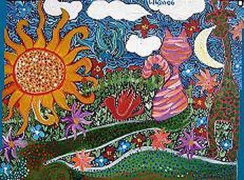 Fantasy Painting - Lindamunschauer 2 by Linda Munschauer